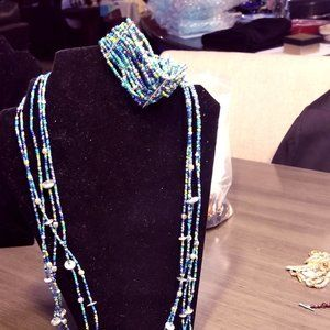 Chico's Beaded Necklace and Bracelet